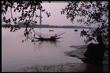 595035 Fisherman On The Hooley River Calcutta A4 Photo Print