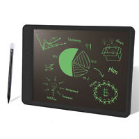 "10"" Writing Tablet LCD Drawing Board Pad Kids EWriter Digital Notepad Black"