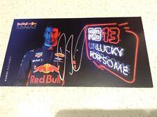 DANIEL RICCIARDO SIGNED CARD, F1 DRIVER REDBULL RACING TEAM HOLDEN MAZDA HONDA