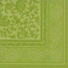 """50 TOVAGLIOLI VERDE OLIVA """"Royal Collection"""" 1/4 - piega 40 cm ORNAMENTS Motivo Floreale"""
