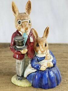Vintage Royal Doulton Bunnykins Family Photo Porcelain Pottery Figurine Lot G