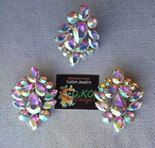 drag queen jewerly new clip on button dance show pageant  dragqueen ab a.b. Ring