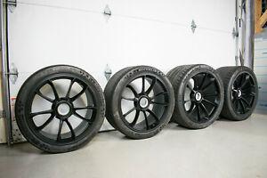 "GENUINE OEM PORSCHE 991 GT3RS WHEELS 20/21"" SET OF FOUR 99136216382 99136218982"