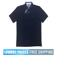 Tommy Hilfiger NWT Men's Custom Fit Navy Basic SP Polo Shirt Free Shipping