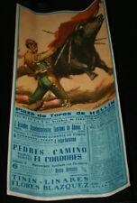 CARTEL CORRIDA TOROS PEDRES CAMINO Y EL CORDOBES, TININ LINARES, HELLIN 1965, 5º