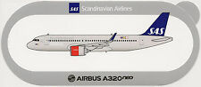 Official Airbus Sticker:  Scandinavian Airlines SAS A320neo