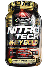 NEW MUSCLETECH NITRO TECH WHEY GOLD PROTEIN DIETARY SUPPLEMENT MUSCLE HEALTHY