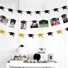 Graduation Cap Garlands and Magnet Photo Clip String Kit for Congrats Grad Party