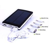 10000mAh Dual USB Solar Power Panel External Mobile Battery Charger Power Bank
