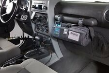 On The Go Organizer Fits on Jeep Wrangler JK Glove Box Handle in Black - Storage