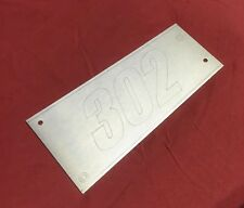 """FORD 5.0L MUSTANG / GT40 EXPLORER STAINLESS INTAKE COVER PLATE.   """"302"""""""