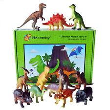 Dinosaur Toy Plastic Figures Set of 12 Large Crafts Painting Drawing Art Gi