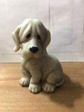 Peewee 2001 Quarry Critters Puppy Dog Figurine Stone Hound