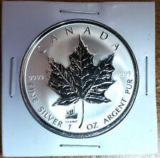 1998 Canada Maple Leaf (Titanic Privy) 1oz .999 Fine Silver Coin -