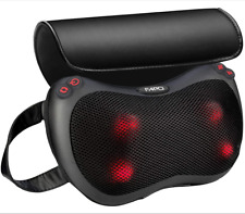 New Shiatsu Shoulder Neck and Back Massager Pillow Heat Deep Kneading Cushion