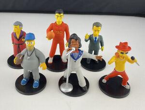 6 x Wizkids Neca 2013 Simpson Figures Super Stars Series 1 Complete