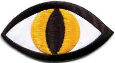 Cat's eye tattoo wicca occult goth embroidered applique iron-on patch S-1127