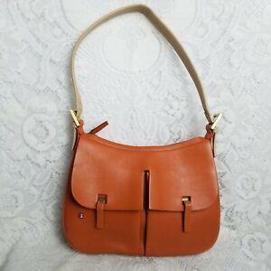 Authentic Bally Genuine Leather Burnt Orange Shoulder Bag Clemesin