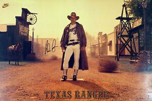 Nolan Ryan Autographed Signed 24x36 Nike Poster Texas Rangers Beckett H10162