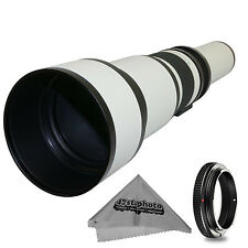 Super 650-1300mm f/8-16 HD Telephoto Zoom Lens for Canon EOS-M Cameras
