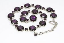 DOLCE and GABBANA D&G Purple Crystal Chain Belt