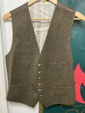 Made In Italy Ralph Lauren Brown Men's Wool Vest Waistcoat Size Large