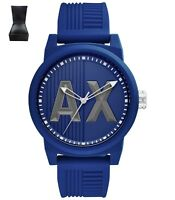 **REDUCED** Armani Exchange AX1454 Men's Blue Strap Watch Silicone Strap RRP £99