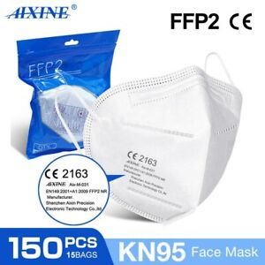 150Pcs KN95 Disposable Face Masks 5 Layers Filters 95%+ of PFE & BFE