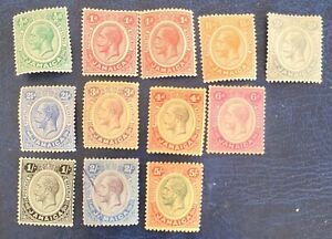 JAMAICA 1912-20 SET WITH 1d SHADE MM SG 57/67 except2s FU alb11