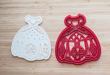 Cookie cutters. Sofia the First сookie cutters. Princess dress. Wedding dress.