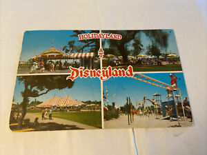 Vintage DISNEYLAND Postcard--Holidayland--Multiview--Entrance Activity Tent Area