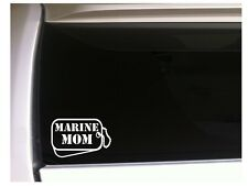 """Marine Mom Dog Tags Vinyl Sticker Car Decal 6"""" L85 Military Soldier Family Gift"""