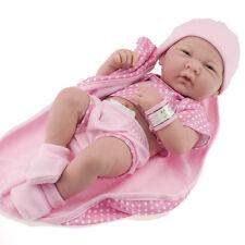 New Berenguer *  18541 * La Newborn Real Girl 14 Inch Doll Pink Polka Dot Romper