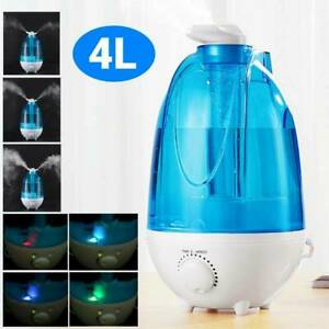 UK Ultrasonic Humidifier Diffuser LED Light Home/Offices Mist Maker Air Purifier