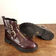 Womens Dirty Laundry Chunky Combat Boots Buckles Size 9.5