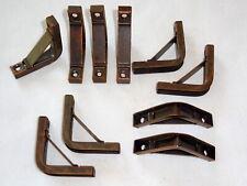 7b.. Vintage Stair Rod Brackets. Triangular for Wooden Rods. Price per bracket.