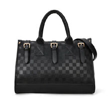 Women Luxury Black Handbag Fashion PU Leather Messenger Bag Tote Shoulder Bag