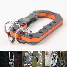 """""""The Mechanic Hung"""" Quickdraw Buckle Carabiner Backpack Hook Keychain Key Holder"""