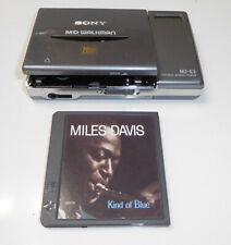 Genuine Sony MiniDisc Walkman Player Model Mz-E3