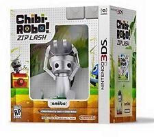 NEW Chibi-Robo Zip Lash Amiibo Bundle Nintendo 3DS Chibi Robo