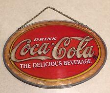 "Coca Cola Coke Glass Suncatcher 7"""
