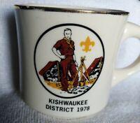 1978 Boy Scout Mug Kishwaukee District