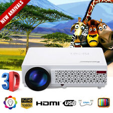 LED 96+ 5000Lumens 3D Proyector 1080P HD Reunión oficina KTV HDMI VGA Multimedia