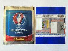 POCHETTE PANINI EURO 2016 BLUE PACKET TUTEN BUSTINA BACK BLANK BARCODE