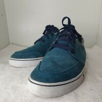HUF RAMONDETTA MEN'S LACE UP SUEDE/FABRIC TRAINERS BLUE SIZE UK9 EU43 (AB)