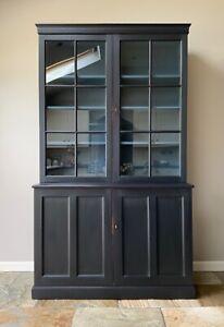 Vintage Antique Glazed Display Cabinet Dresser Cupboard Hand Painted Storage