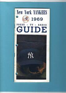 1969 New York Yankees MLB Media Guide Mickey Mantle Career Home Runs List
