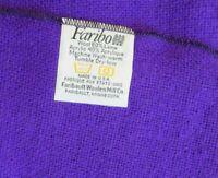 "Faribo Wool Blend Throw Afghan Lightweight Blanket Purple 44"" x 60"" USA"