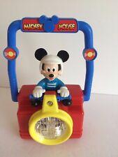Vintage Mickey Mouse Radio Shack Lantern red & green light & flashlight