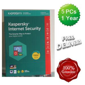 Kaspersky Internet Security 2018 5 Users Multi device inc Antivirus UK